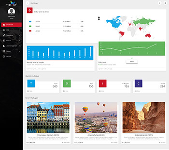 Attractive Dashboard, Website Design