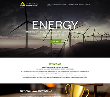 Energy web page, Website Design
